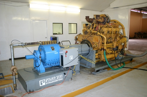 Power Test dynamometer with Caterpillar engine installed
